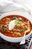 foto of ground-beef  - Lasagne soup with ground beef - JPG
