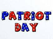 stock photo of patriot  - illustration of a colorful stylish text for Patriot Day - JPG