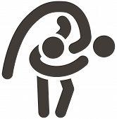 pic of wrestling  - Summer sports art icons  - JPG