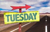 pic of tuesday  - Tuesday sign with road background - JPG