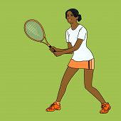 pic of mulatto  - mulatto girl playing tennis - JPG