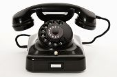foto of bakelite  - old rotary phone on a white background - JPG