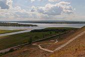 image of kama  - Place of a confluence of the river Tojma to Kama - JPG