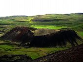 foto of volcanic  - This crater was formed in an explosive eruption less than 3000 years ago - JPG
