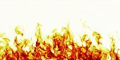 stock photo of blast-furnace  - burning fire flame on white background or texture - JPG