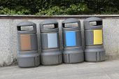 foto of differential  - Recycling containers of all types of waste - JPG