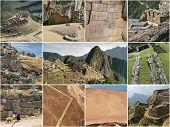 foto of geoglyph  - Peru landmark collage with the best tourist highlights - JPG