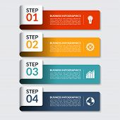 Infographic design number banners template. Can be used for business, presentation, web design poster