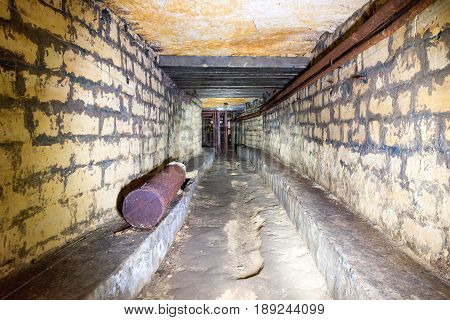 Corridor In A Bomb Shelter