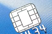 stock photo of debit card  - Macro new business chip card - JPG