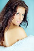picture of beautiful brunette woman  - Beautiful brunette - JPG