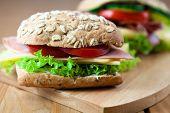 Постер, плакат: Здоровый бутерброды