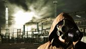stock photo of gas mask  - Global warming - JPG