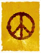 stock photo of peace-sign  - Hippie symbol - JPG