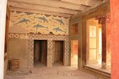 picture of minos  - old palace ruins in Knossos - JPG