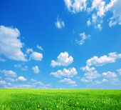 picture of blue sky  - Nature background - JPG