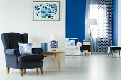 Living Room With Stylish Furniture poster