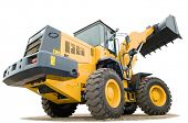 pic of wheel loader  - One Loader excavator construction machinery equipment isolated - JPG