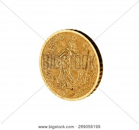 Shiny Euro Cent Coin On