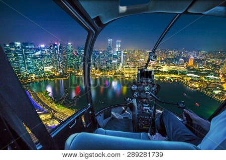 Helicopter Interior On The Marina