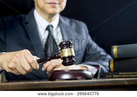 Justice And Law Conceptmale Judge