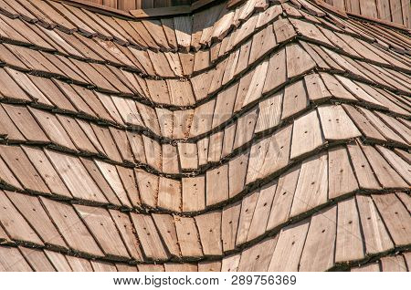 Roof Made Of Wooden Tiles