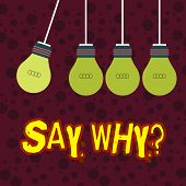 Handwriting Text Writing Say Whyquestion. Concept Meaning Give An Explanation Express Reasons Asking poster