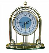 stock photo of tick tock  - Decorative clock isolated over white with clipping path - JPG