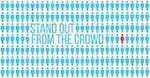 Be Or Think Different. Being Different, Stand Out In The Crowd, Move For Success. Individuality Succ poster