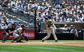 June 22nd, 2008 - Khalil Greene of the San Diego Padres. Shortstop hitting during a game versus the