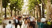 picture of street-walker  - Blurred crowd in the street - JPG