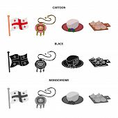 Isolated Object Of Culture And Sightseeing Symbol. Collection Of Culture And Originality Stock Vecto poster