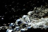 Energizing Picture, Crystals Clear Water With Real Crystals Like Jewellery. Dark Part In Top Makes C poster
