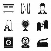 Appliance Icons Set. Simple Set Of 9 Appliance Icons For Web Isolated On White Background poster