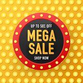 Sale Banner Template Design, Big Sale Special Offer. Sale Banner Template Design, Mega Sale Special  poster