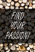Writing Note Showing Find Your Passion. Business Photo Showcasing Encourage Showing Find Their Dream poster