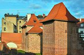 Medieval Fortifications And Destroyed Tenements In The City Of Poznan poster