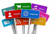 image of internet  - Internet and social media concept - JPG