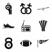 Sexual Differences Icons Set. Simple Set Of 9 Sexual Differences Icons For Web Isolated On White Bac poster
