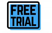 Free Trial Stamp On White Background. Sign, Label, Sticker poster