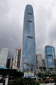 HONG KONG, CHINA - APR 23: The International Finance Centre with city skyline on April 23, 2012 in H