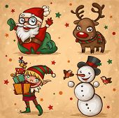 stock photo of gnome  - Christmas characters - JPG