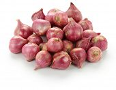 stock photo of red shallot  - thai red onion - JPG