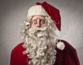 picture of sad christmas  - Astonished Santa Claus - JPG