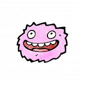 laughing pink furry monster poster