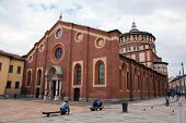 stock photo of leonardo da vinci  - Santa Maria delle Grazie church in Milan - JPG