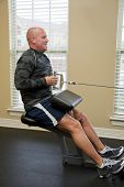 pic of gun shot wound  - Solder exercising in gym He suffered gun shot wounds in Iraq and is recovering - JPG