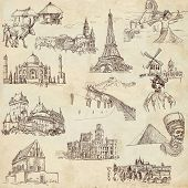 foto of moulin rouge  - An hand drawn collection in one big set  - JPG