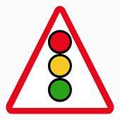 stock photo of traffic light  - traffic lights sign - JPG