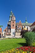 picture of stanislaus church  - Wawel Cathedral on wawel hill in old town in cracow in poland - JPG